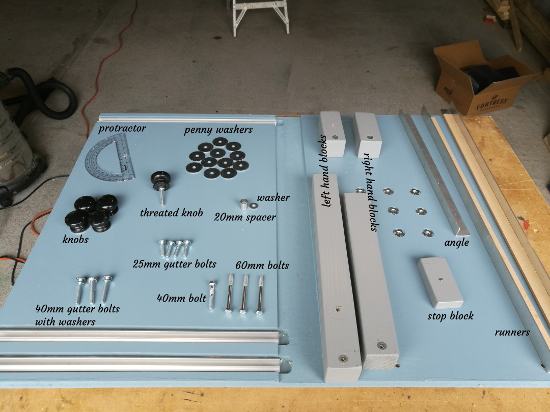 Circular Saw Sled ver 2.0 parts list